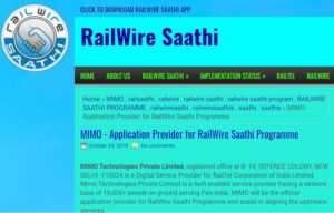 MIMO – Application Provider for Railwire Saathi Programme